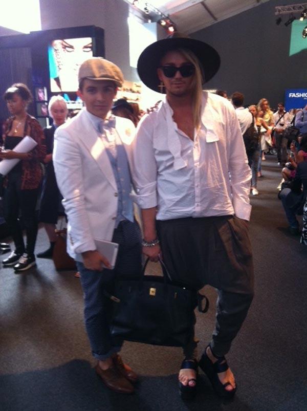 Fesche Boys auf der Fashion Week