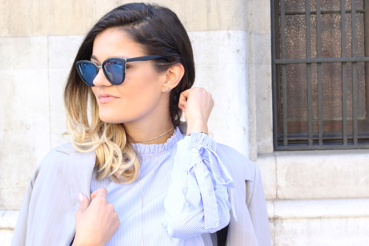 cat-eye-sunglasses-oversize-blazer-oufit-white-blue-striped-shirt-outfit-street-style-ombre-hair-blayage-hairstyle-fashionzone-tasha